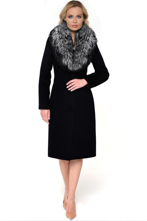 Классическое пальто из шерсти и кашемира арт.203