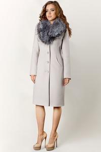 Шерстяное пальто с чернобуркой арт.402