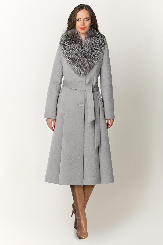 Длинное расклешенное пальто арт.501