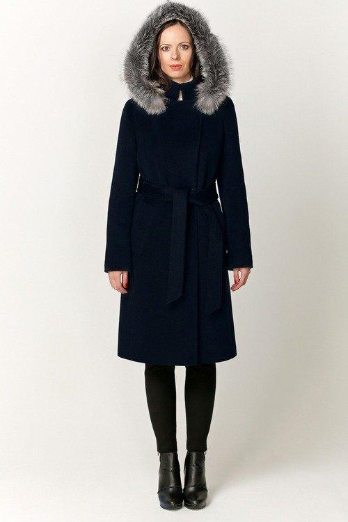 Зимнее пальто с капюшоном арт.603