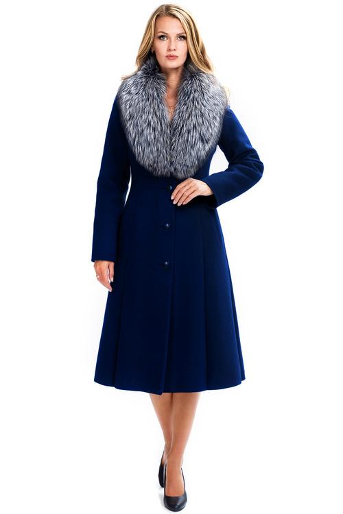 Зимнее пальто с натуральным мехом арт.302