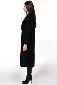 Длинный чёрный женский бушлат арт.809