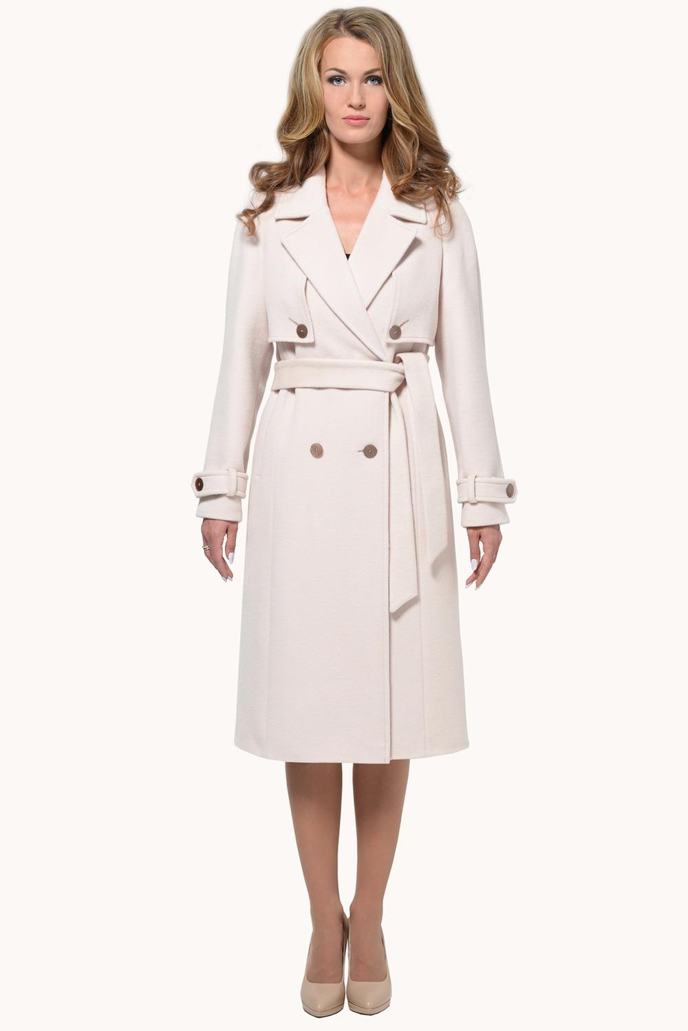 Бежевое пальто арт.102
