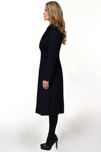 Женское синее зимнее пальто арт.804