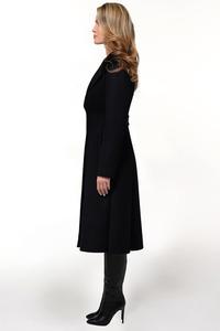 Женское чёрное расклешенное пальто арт. 802