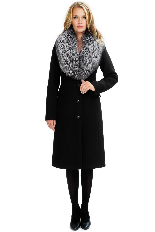 Женское зимнее пальто с мехом арт.603