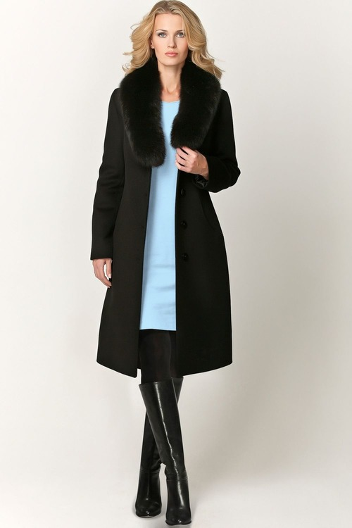 bd108154b81 Купить элегантное женское зимнее пальто с мехом из итальянских ...