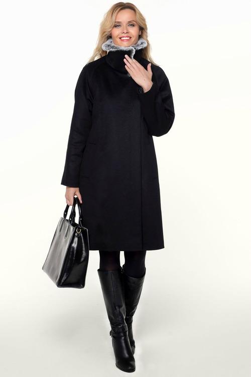 aaae084d6a5 Купить элегантное женское зимнее пальто с мехом из итальянских ...