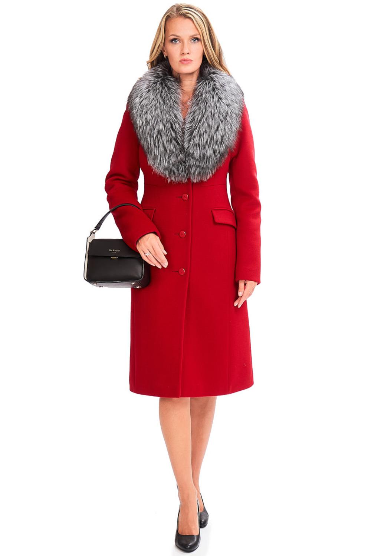 Расклешенное пальто из шерсти арт.401