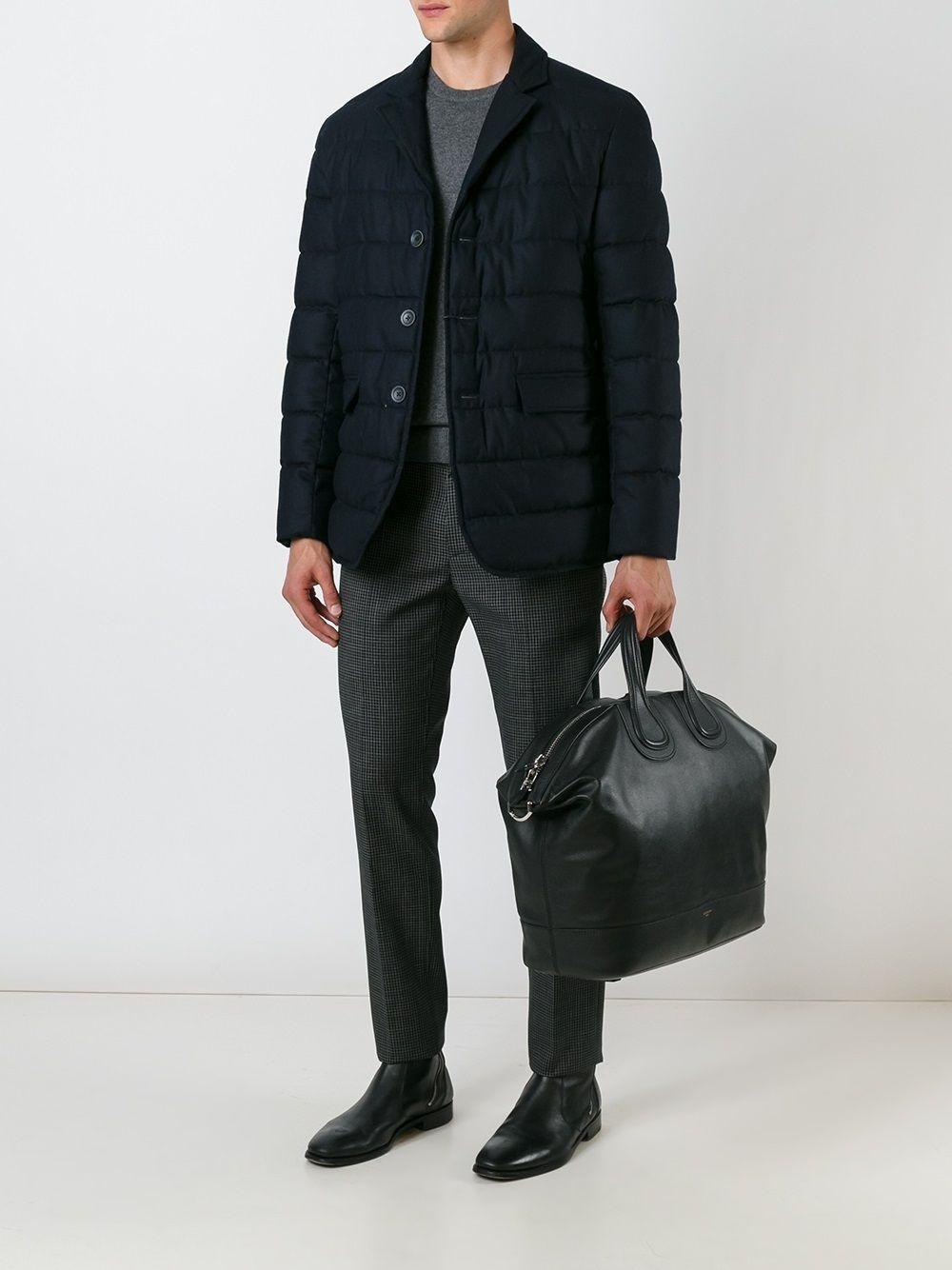 Мужской стёганый пиджак со съёмным жилетом арт.103
