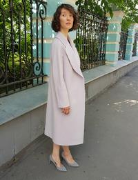 Женское голубое пальто халат арт.302