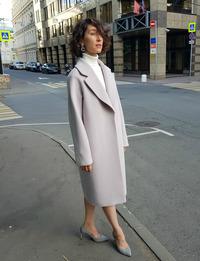 Женское голубое пальто халат арт.202