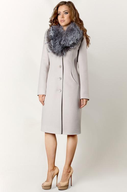 Зимнее женское пальто с мехом арт.402