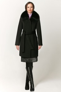 Зимнее пальто с маленьким мехом арт.604