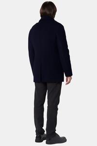 Мужское синее зимнее пальто арт.403