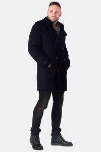Мужское синее зимнее пальто тренч арт.203