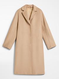 Женское бежевое пальто халат арт.203