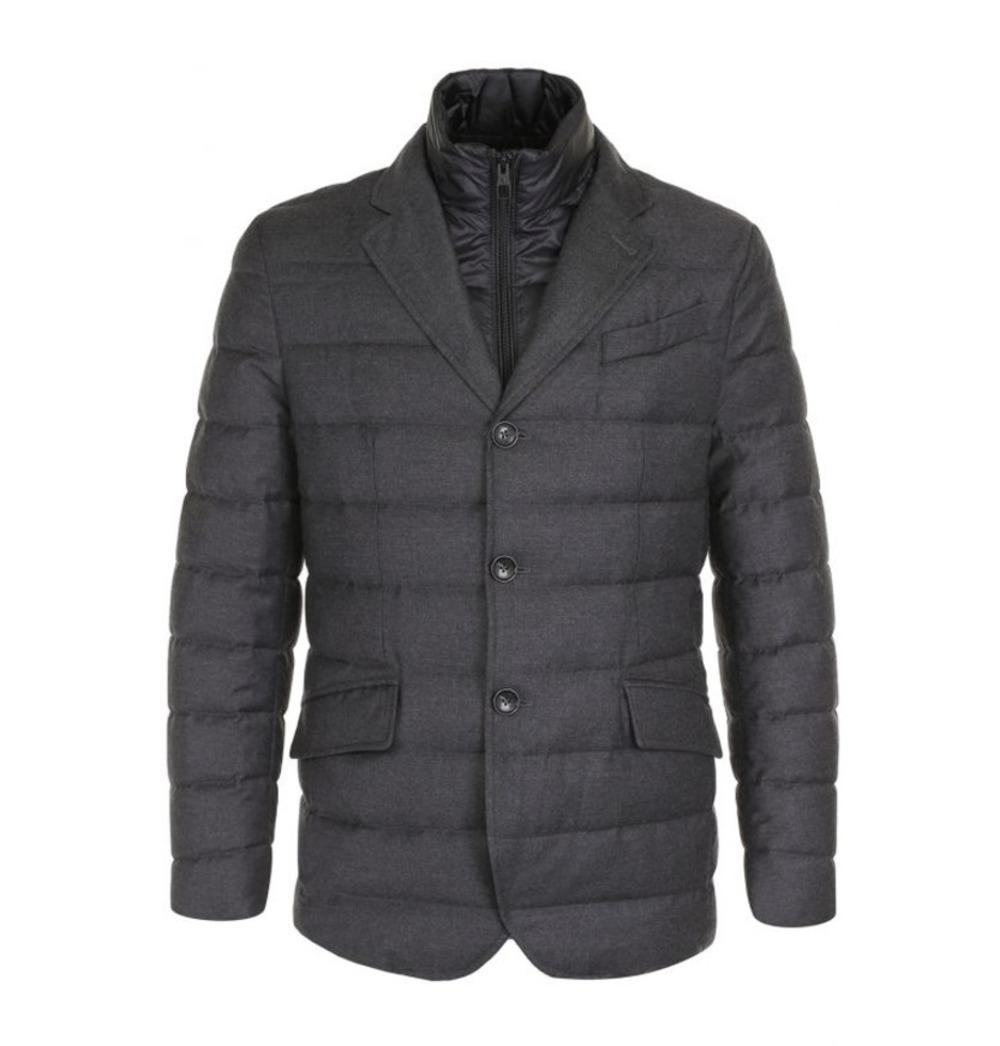 Мужской стёганый пиджак со съёмным жилетом арт.101