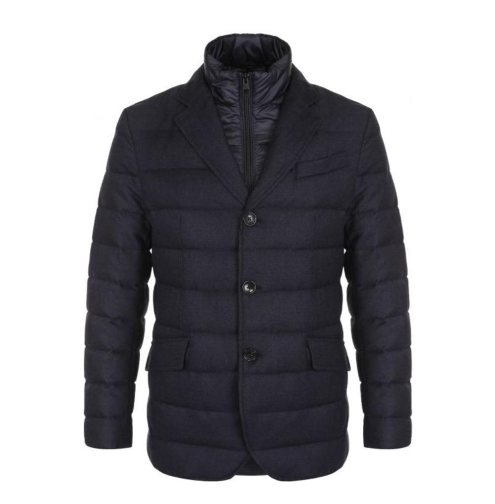 Мужской стёганый пиджак со съёмным жилетом арт.102