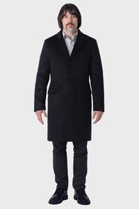 Мужское серое зимнее пальто арт.103