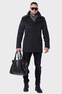 Мужское серое зимнее пальто арт.202