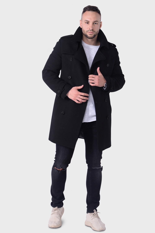 Мужское демисезонное пальто тренч арт.103