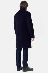 Мужское синее зимнее пальто арт.102