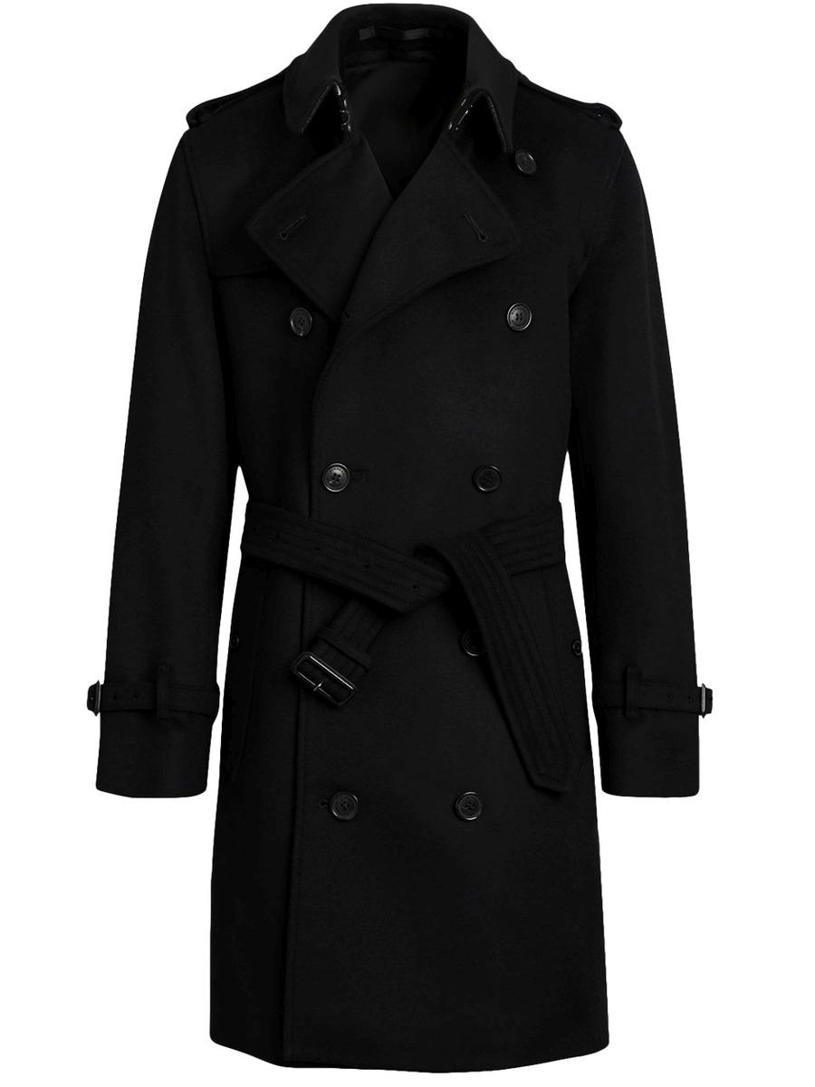 Мужское двубортное пальто тренч арт.301
